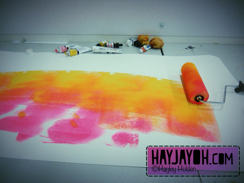 hayley-holden- wallpaper painting process- hayjayoh/com